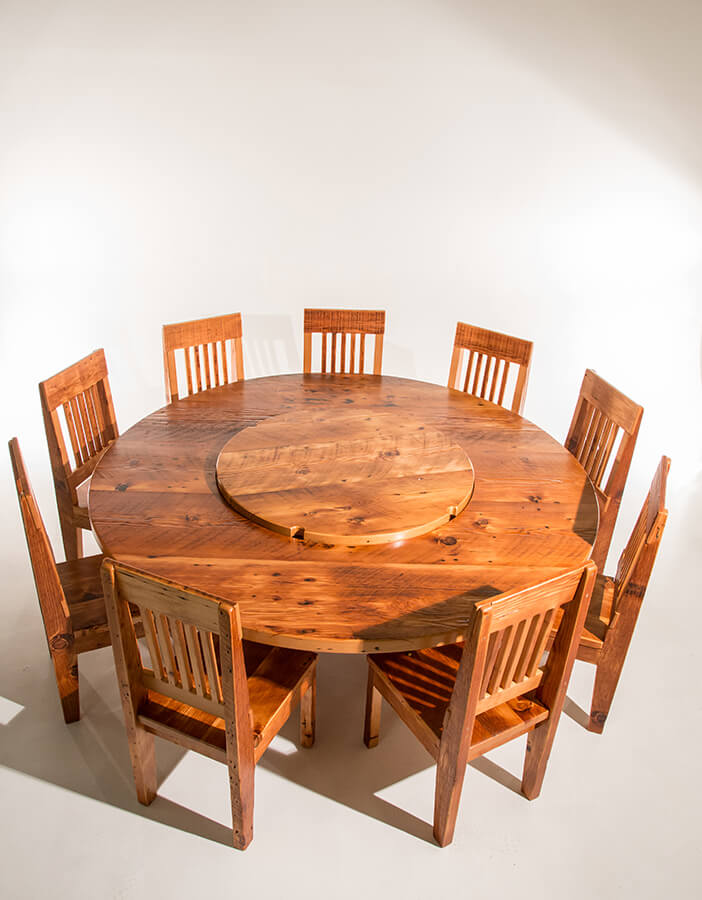 Featuring Our Circular Modern Dining Table Set