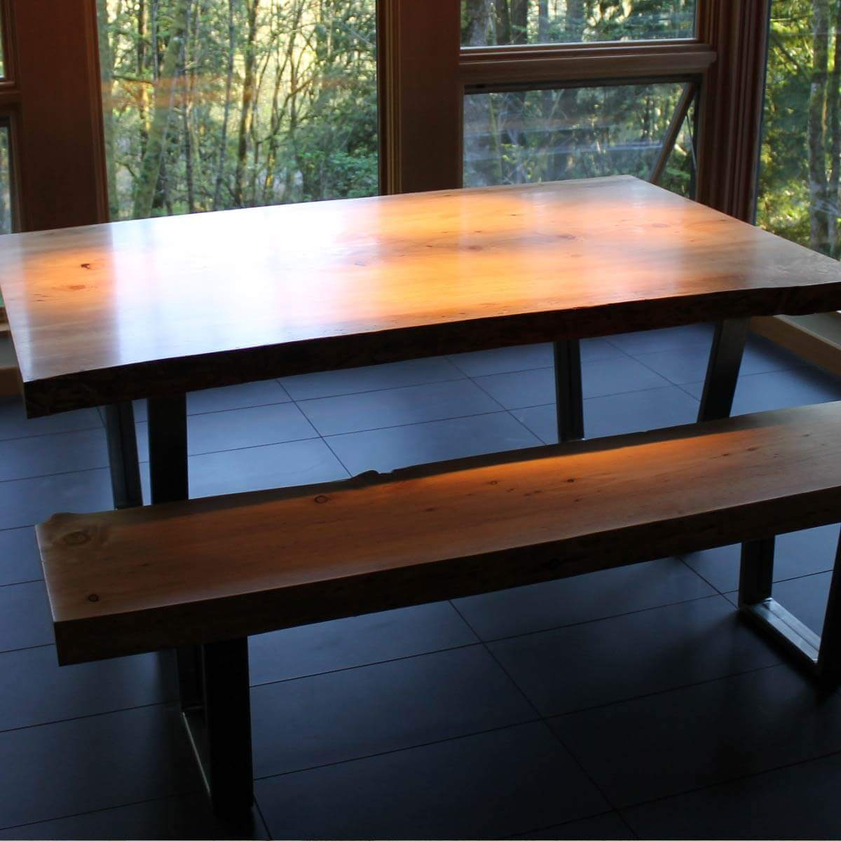 Custom Live Edge Wood Furniture Portland Oregon